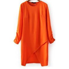 34,90EUR Kleid orange Wickeloptik