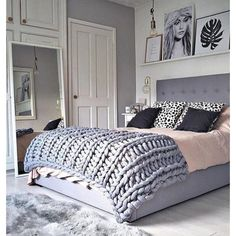 The plan is extremely modern. Distinct kinds of design and present bedroom version was applied in several types of house. Girls bedroom design must al. Gray Bedroom, Small Room Bedroom, Trendy Bedroom, Small Rooms, Home Decor Bedroom, Modern Bedroom, Bedroom Ideas, Bedroom Designs, Master Bedroom