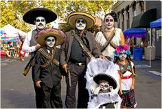 Throughout California, families and communities gather at festivals and events to share food, music and fun with their families and extended community, both living and departed. Día de los Muertos information and resources can be found at Latino Center of Arts & Culture website. [Photo Credit: Vivir Photography]