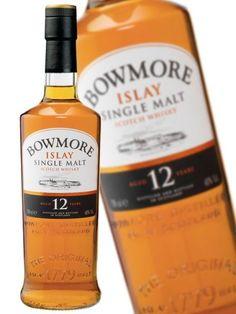Bowmore 12YO Top Drinks, Scotch, Whisky, Whiskey Bottle, Wine, Plaid, Whiskey
