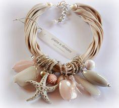 stones and surroundings: wrist bands ribbon Sea Jewelry, Seashell Jewelry, Chunky Jewelry, Cute Jewelry, Luxury Jewelry, Jewelry Crafts, Jewelry Art, Beaded Jewelry, Jewelry Necklaces
