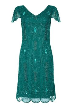Downton Abbey Flapper Dress in Teal Gatsbylady London Clothing Exclude from Peoplevox @ Little Mistress Flapper Style Dresses, Vintage Inspired Dresses, Vintage Fashion 1950s, Victorian Fashion, Vintage Hats, 1920s Outfits, London Outfit, Christian Dior Couture, Sewing