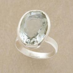 CLEAR ENERGY RING, lovely pale green amethyst from Sundance