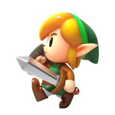 Link Walking Art from The Legend of Zelda: Link's Awakening - Character Design from Video Games The Legend Of Zelda, Legend Of Zelda Characters, Legend Of Zelda Breath, Game Character Design, Game Design, Nintendo Switch, Link Botw, Video Game Party, Gamers Anime
