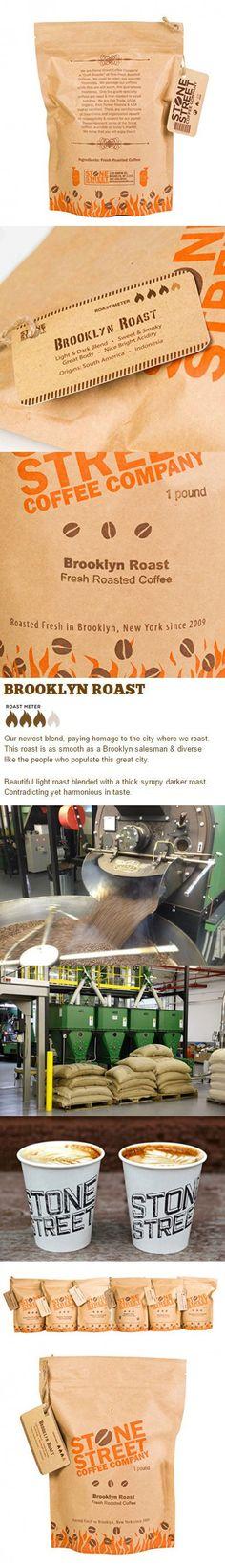 Stone Street Coffee Medium-Dark Roasted Brooklyn Signature Blend Freshly Ground Coffee with Resealable Bag, 1 lb.