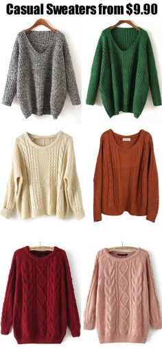 Love casual sweaters so much ? Come romwe.com to get ones you most love!Cardigans ,pullovers or even shawls.You will never be disappointed!