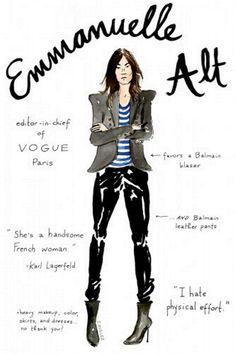 Copie o look - Get the look (Emmanuelle Alt)
