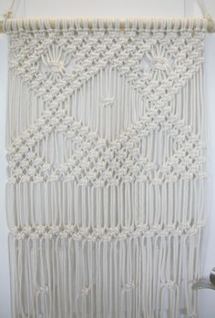 Macrame Wall Hanging for Beginners which is a feature from Waste Not Wednesday-44 by My French Twist   www.raggedy-bits.com