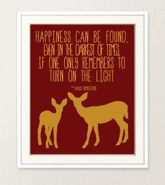 Harry Potter Quote & Deer Wall Art 8x10 Print by NicoleGracePhoto, $14.95