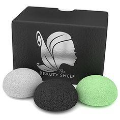 Konjac Sponge (3 Pack) - Facial Sponges - Hemisphere Shape - Charcoal, Green Tea, Natural White The Beauty Shelf http://www.amazon.com/dp/B00YQLN6W8/ref=cm_sw_r_pi_dp_qLxexb0QGZ7C6