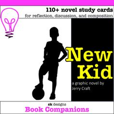 New kid graphic novel study discussion, reflection, lit elements writing prompts Book Club Books, Book Clubs, Overcoming Adversity, Literature Circles, Teaching Resources, School Resources, Teaching Ideas, Book Challenge, Student Reading