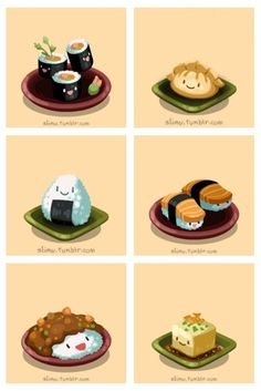 Japanese Food Party!  From slimu.tumblr.com