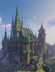Minecraft Castle Designs, Minecraft Castle Blueprints, Minecraft Kingdom, Minecraft Mansion, Minecraft Cottage, Minecraft Structures, Cute Minecraft Houses, Minecraft City, Minecraft Plans