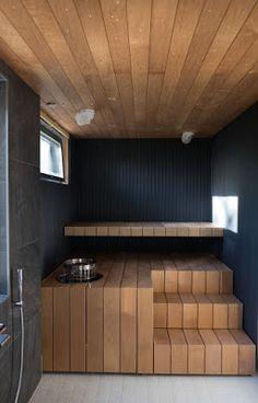 Sauna House, Sauna Room, Home Spa Room, Spa Rooms, Scandinavian Saunas, Hot Tub Room, Windsor House, Sauna Design, Inside A House