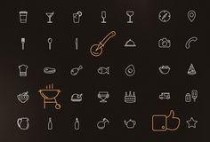 TweetSumoMe Friends, this an amazing FREE set of 100 outline icons especially for the pizza house, restaurant or bar website. You can use the royalty-free icons for any personal, commercial project including web design, software,