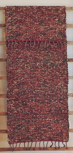 "Hand Woven Copper Cranberry Christmas Table Runner - 14"" x 40"" by StudioatRedTopRanch on Etsy"