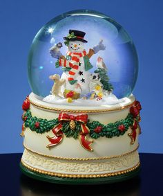 inc musical santa with snowman water globe materials resin glass water size 5 5 quot h x 4