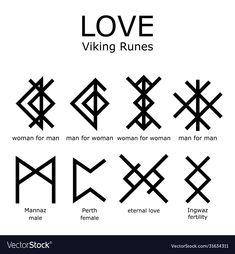 Viking Rune Meanings, Rune Symbols, Letter Symbols, Mayan Symbols, Viking Symbols, Egyptian Symbols, Viking Runes, Ancient Symbols, Viking Rune Tattoo