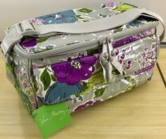 144748e9fd Vera Bradley Cooler Watercolor - insulated lunch tote bottle bag camera  travel cosmetic NWT