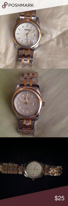 NWOT TWO TONE UNISEX WATCH Very nice watch for either male or female.  This watch is NWOT and it does not have a box. Skmei Other