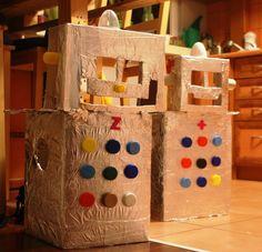Roboty - przebrania z kartonowych pudełek