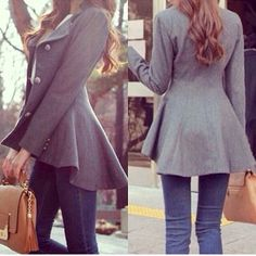 ♡ peplum coat