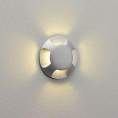 Astro Lighting Led-einbauleuchte Boden Wand rund silber D= 6 cm Beam Astro Lighting, Outdoor Wall Lighting, Outdoor Walls, Exterior Wall Light, Exterior Paint, Bathroom Sconces, Bathroom Lighting, Home Lighting Design, Lighting Ideas