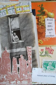 Vintage Mixed Media Notecard Photo Collage by PrunellaPapercraft. $8.00 USD, via Etsy.