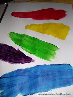 Recipe for cornflour paint for finger paint fun!