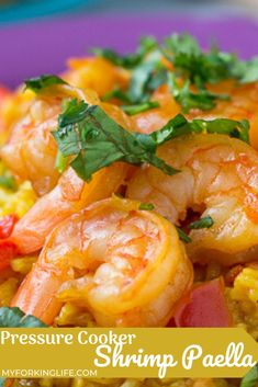 This Pressure Cooker Shrimp Paella is so easy and delicious and perfect for any weeknight. Make it all in the pressure cooker and it's full of amazing flavor. Recipe For 6, Shrimp Recipes Easy, Healthy Recipes, Dinner Recipes, Party Recipes, Summer Recipes, Shrimp Dishes, Food Diary, Southern Recipes