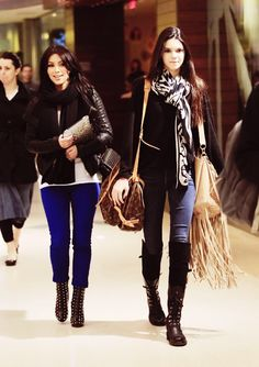 Kim Kardashian and Kendall Jenner.