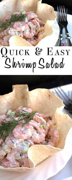 Quick and Easy Shrimp Salad - Erren's Kitchen