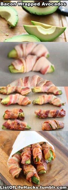 Bacon wrapped avacado