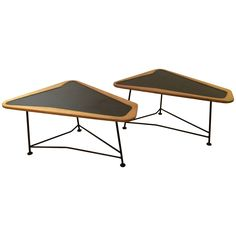 Pair of French 1950s Coffee Table by Charles Ramos