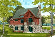 This european design floor plan is 1885 sq ft and has 3 bedrooms and has bathrooms. Small Cottage Plans, Cottage House Plans, Tiny House Plans, Cottage Homes, House Floor Plans, European Style Homes, Hill Country Homes, Floor Plan Layout, Getaway Cabins
