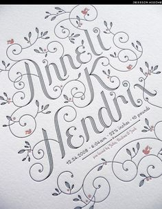 Pretty typography and letterpress? Can't beat that.