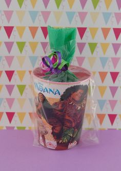 Disney Moana Birthday Party Favor Cups Pre-Filled