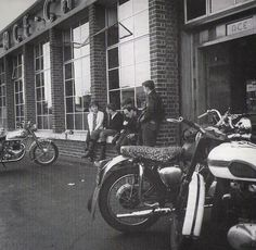 Vintage, - Hanging out at the Ace Cafe.