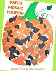 mosaic pumpkin craft for kids pumpkin preschool craftshalloween