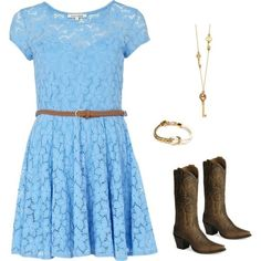 country girl outfit, created by reesespiecegirl on ...
