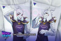 Dakimakura Fullbody pillow case - Asriel Dreemurr Evil (Undertale) Pillow Cases, Velvet, Pillows, Store, Artist, Prints, Anime, Character, Design