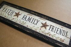 Country sign for the home, I like the primitive berries painted on