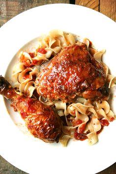 Braised Chicken with Sherry & Sherry Vinegar