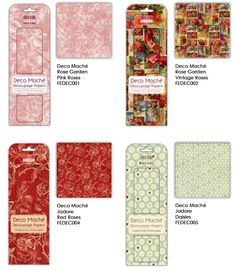 New Decoupage papers just launched by First Edition & available at Country Love Crafts.