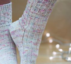 This sock pattern was designed as a collaboration with Dani from the wonderful Little Bobbins podcast, and Jane from Hedgerow Yarns. The Happy Hooker, Vintage Fairies, Knitting Socks, Fairy Lights, Ravelry, Knit Crochet, Knitting Patterns, Yarns, Knits