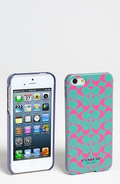 COACH 'Signature' iPhone 5 Case  Get 5% cash back at Nordstrom: http://www.studentrate.com/lakeforest/get-lakeforest-student-deals/Nordstrom-Student-Discounts--/0