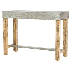 Bring a touch of rustic-chic style to your entryway or den with this mango wood console table, showcasing antique waxed legs and a rectangular top. ...