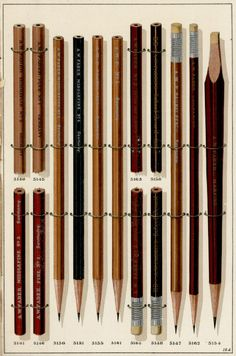 """A- I literally gasped when I saw these lithographed renderings from A.W. Faber's late 19th century catalog of pencils and other office supplies. The pamphlet cover states that Faber has factories in France and Germany and """"houses"""" in London, Paris and Berlin. But the company address is at 78 Reade Street, right here in NYC."""