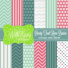Dusty Teal Rose Basics #ddteamcolorchallenge #digitalscrapbooking