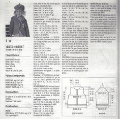 """Bergère deFrance lana( o cotone) gomitoli 6-7-9-10 Misure 4-6-8-10- anni ferri 4,5 5 CAMPIONE-18m x 25 ferri= 10cm punto riso doppio- ferro 1-""""1 dir,1 rov""""ripetere ferro 2-lavorare le m come si presentano ferro 3- """"1 rov,1 dir"""",ripetere DIETRO Con i ferri 5 montare 67m ( 73-85) e lav a coste 1/1 per 4 ferri poi…"""